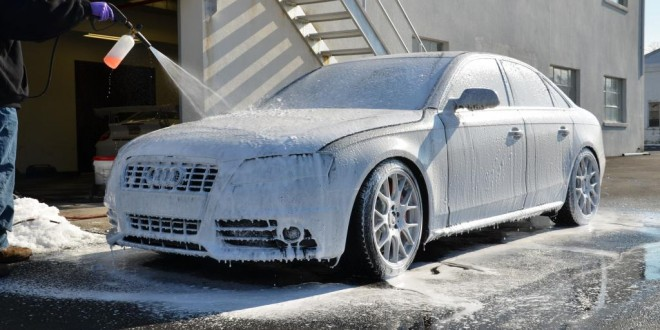 Audi S Getting Proper Wash And Wax - Audi car wash