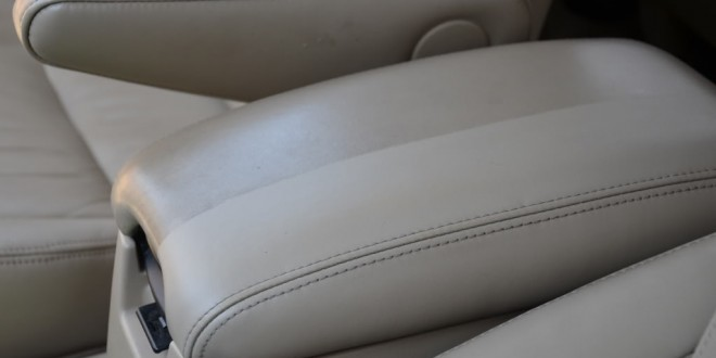 Drastic difference after cleaning this Lexus interior