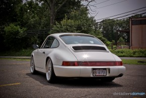 1989 Porsche 911 C4 being worked on at Detailer's Domain