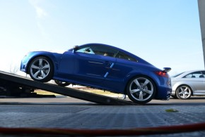Audi TTRS receiving new car preparation, opti coat, clear film installation